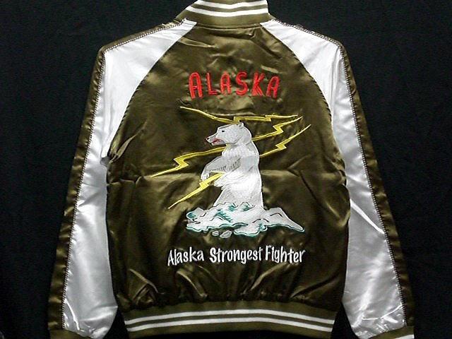 スカジャン ALASKA刺繍 中綿なし アラスカ刺繍