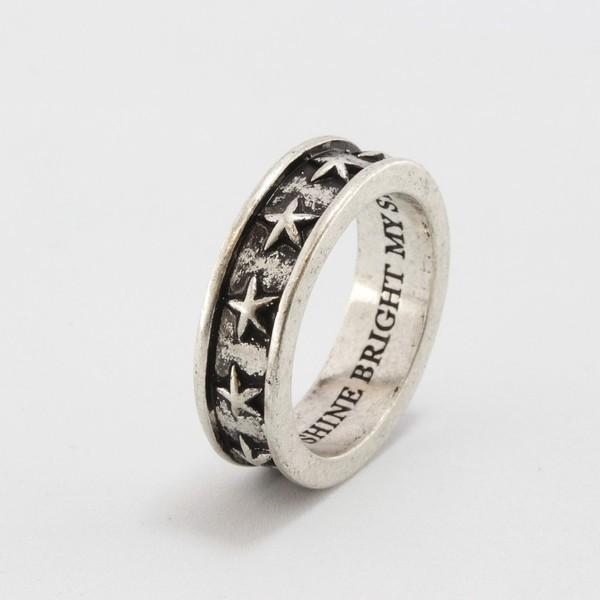 ペアリングの単品 1本販売 スター 星柄 指輪...