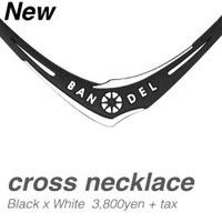 『バンデル BANDEL クロスネックレス ブラック ×...