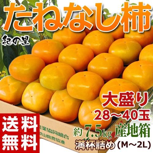 《送料無料》和歌山県産 たねなし柿(刃根又は平核...