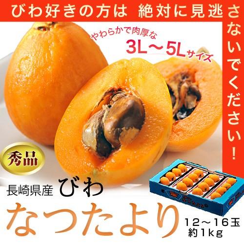 長崎県産 「なつたより」びわ 秀品 大粒3〜5L...