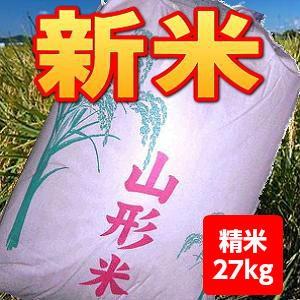 【送料無料】29年産山形県産はえぬき精米27kg【沖...
