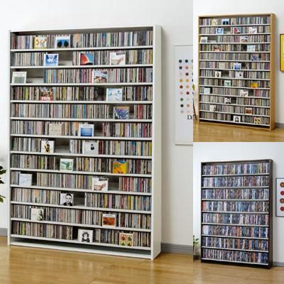 【CDコレクター用】1668枚収納CDラック・DVDも対...