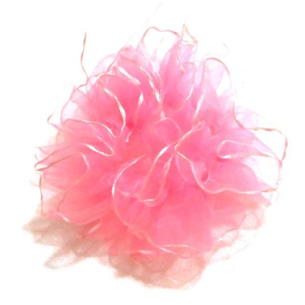 ユラリシュシュ シフォン かわいい  ピンク ...