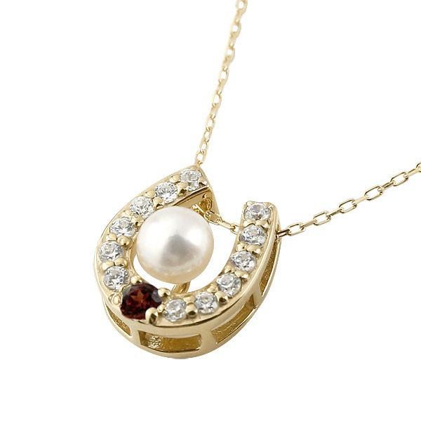 誕生石 馬蹄 ネックレス パールネックレス 真珠 ...