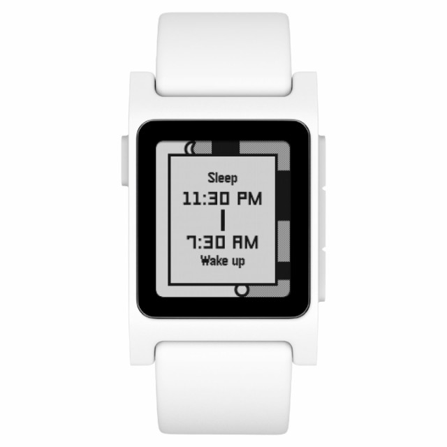 Pebble 2 + Heart Rate Smart Watch White ペブル...