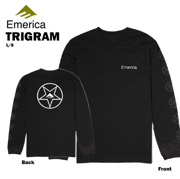 エメリカ トリグラム L/S Tシャツ ブラック スケ...