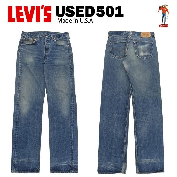 [送料無料] USED Levis 501 レギュラー W34×L38 ...