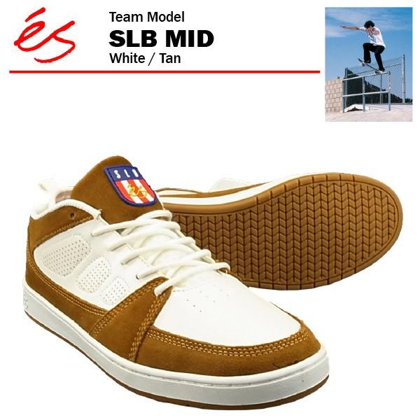 エス SLB ミッド ホワイト/タン/27cm スケート ス...
