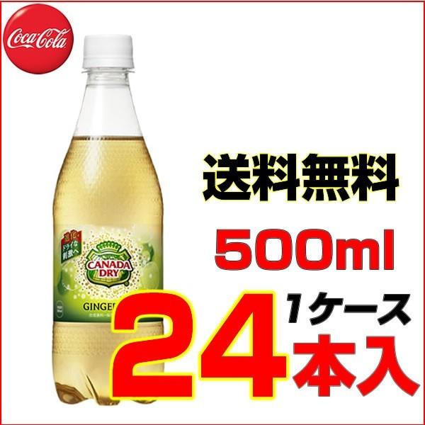 カナダドライジンジャエール 500mlPET 24本【1ケ...