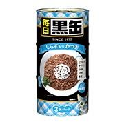 【アイシア】毎日 黒缶 しらす入りかつお 16...