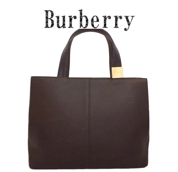 美品 BURBERRY バーバリー レザー トートバ...