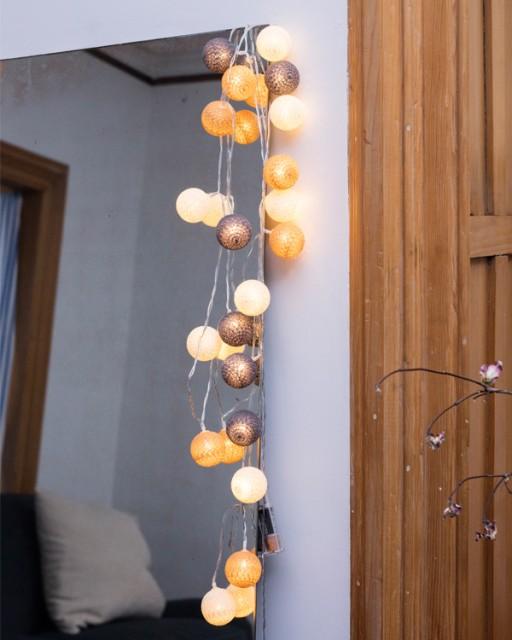 コットンストリングライト LEDストリングライト /...