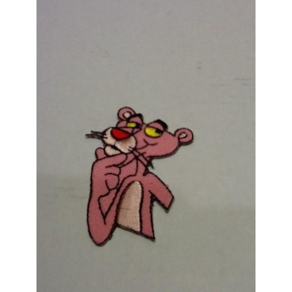 アメリカンな小型刺繍ワッペン(AM)(ピンクパン...