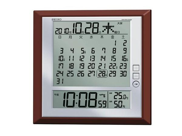 セイコー SEIKO 電波時計 掛置兼用時計 SQ421B