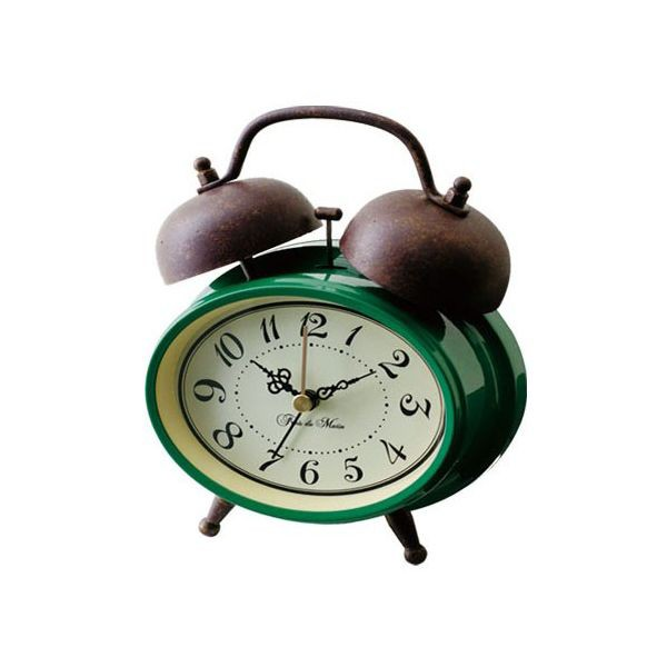 レトロ調ツインベル目覚まし時計 人気の置き時計...