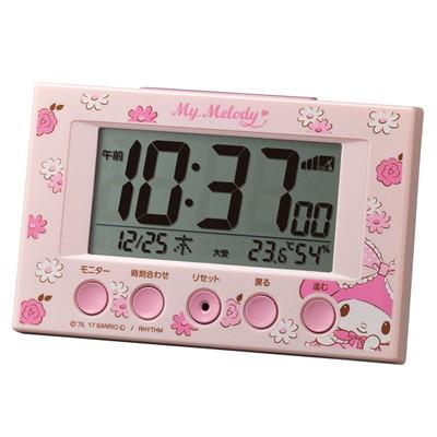 ◆リズム時計 デジタル電波目覚まし時計 【マイ...