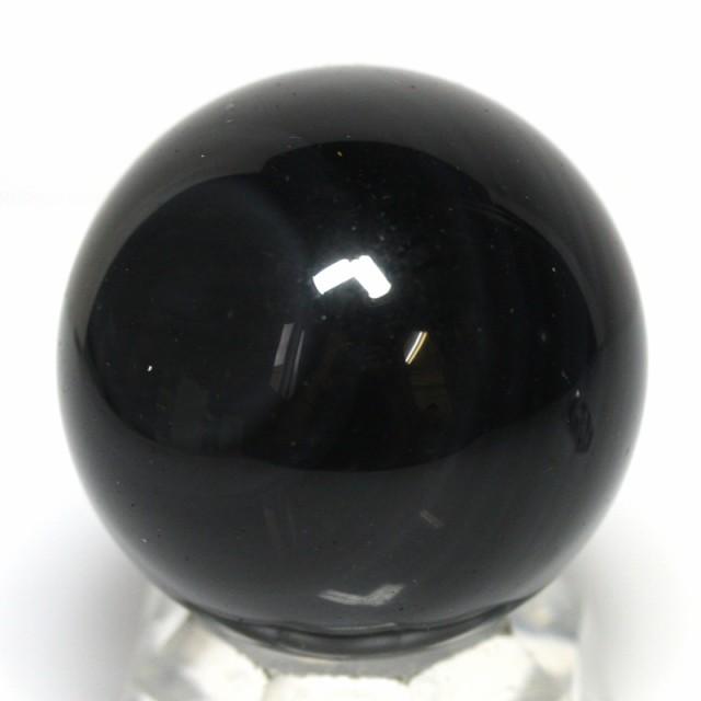 【天然石 置き石】丸玉 約39〜43mm オブシディア...