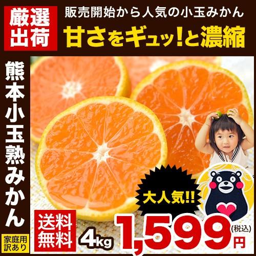 ★たっぷり4kg「熊本小玉熟みかん」訳あり4kg★3S...
