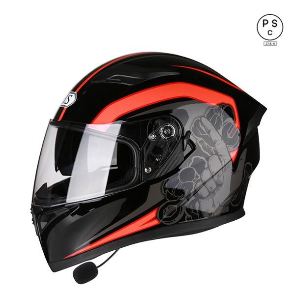 バイクヘルメット ブルートゥース付き フルフェイ...