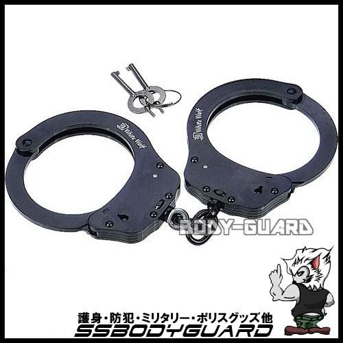 高強度手錠 ダブルロック ブラック Lサイズ