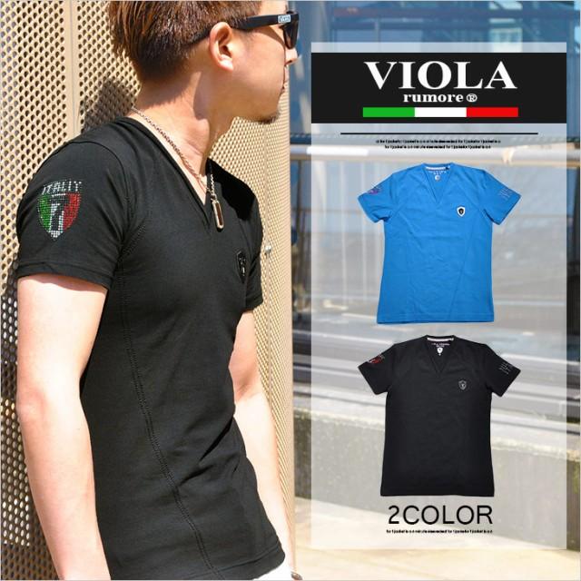 ヴィオラ viola Tシャツ bitter メンズ Vネック ...