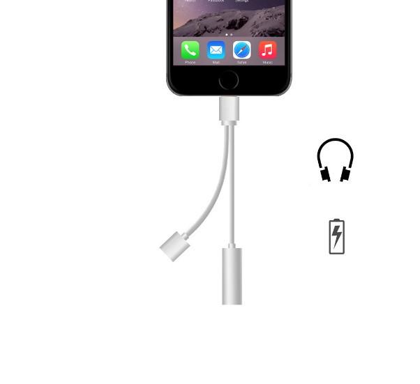 AP 充電&イヤホン再生アダプタ iPhone7/7Plus US...
