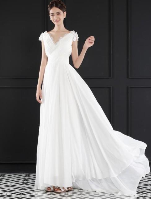 お嫁さん超豪華ウエディングドレス/ロングドレス/...