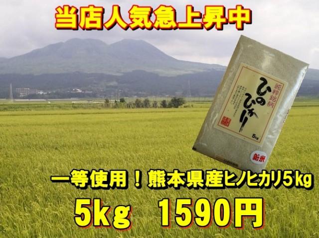 一等米使用!28年産九州熊本県産ヒノヒカリ【5k...