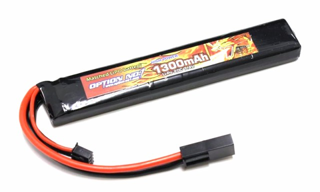 OPTION No.1 HIGH POWER Li-Po 7.4V 1300mAh ステ...