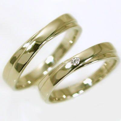 ダイヤモンド ゴールドk10 結婚指輪 マリッジリン...