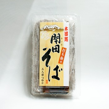 木曽路開田そば 半なま蕎麦(めんつゆ付)|信州...