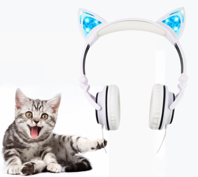 ★ ねこ耳 密閉型 光るヘッドフォン ★