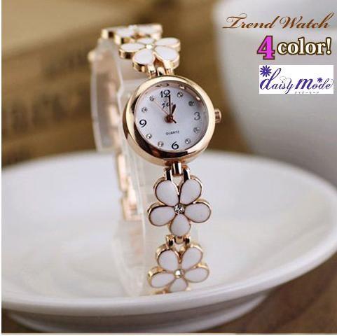ブレスレット風フラワー腕時計/腕時計 レディー...