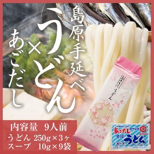 【送料無料】手延べうどん&あごだしスープセット...