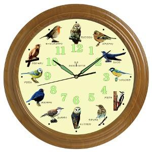 ★「野鳥の壁掛け電波時計 1個」12種類の野鳥の声...