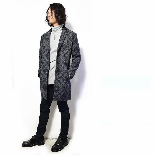 ZEPHYREN ゼファレンの総柄コートを主役に作るスタイリッシュスタイル!