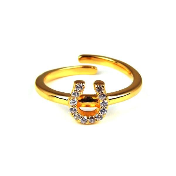 blackdia K18金GP ホースシューパヴェリング 指輪...