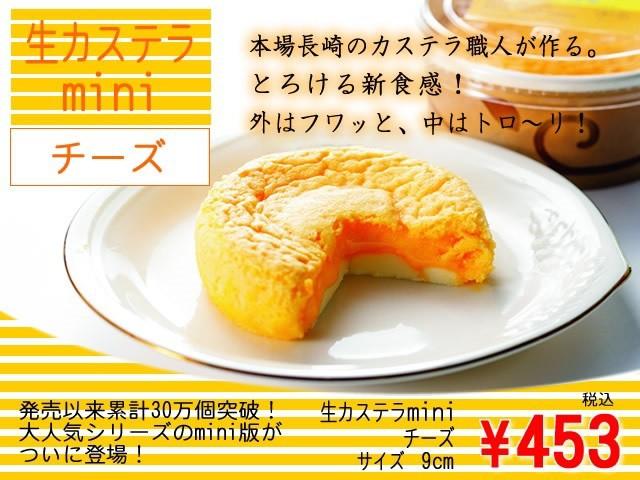 生カステラmini(チーズ)3個セット
