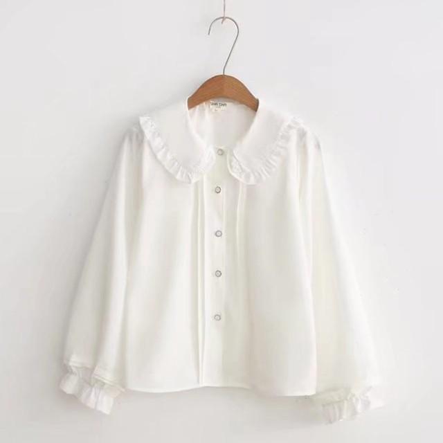レディースシャツ ブラウス トップス 白いシャ...