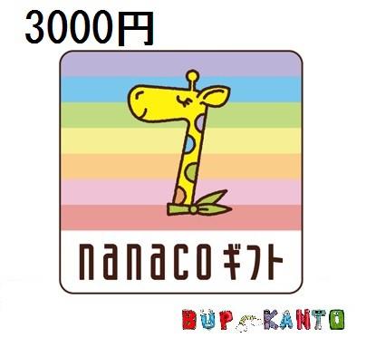 3000円券 nanacoギフト ナナコ ななこ /チャージもネットショッピングも!/セブンイレブン 3千円ギフト券商品券
