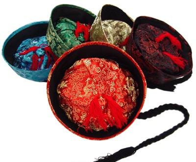 辮髪ツバ付き清朝チャイナ帽1
