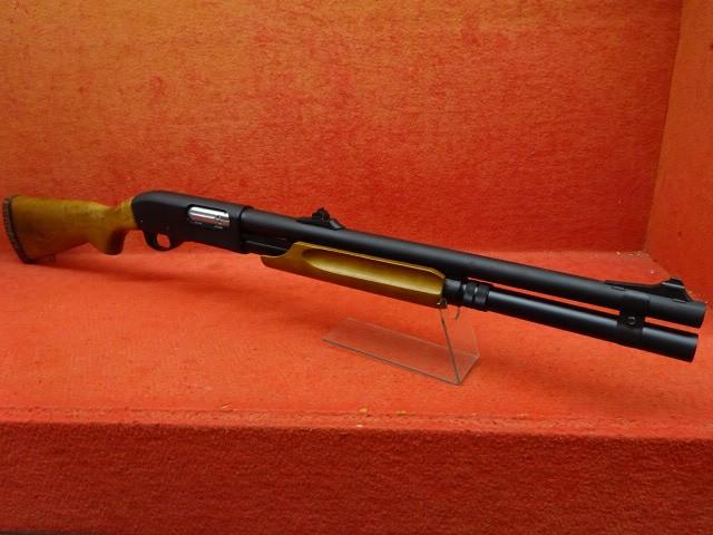 APS CO2ショットガン M870 フルサイズ 木製ストッ...