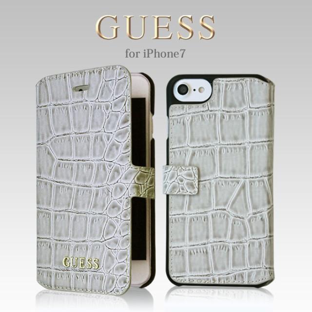 GUESS(ゲス) 公式ライセンス品 iPhone7 手帳型 ...