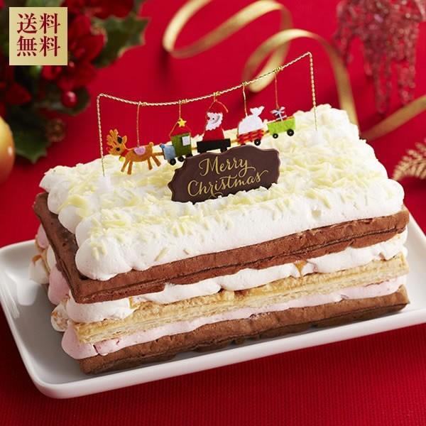 【送料無料】クリスマスケーキ ホワイトXmasワッ...