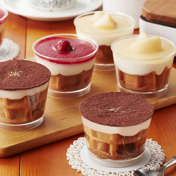 冷凍 カップワッフル2個セット(ティラミス、白桃...