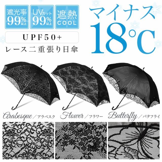 【送料無料】日傘 晴雨兼用 レース二重張り スラ...