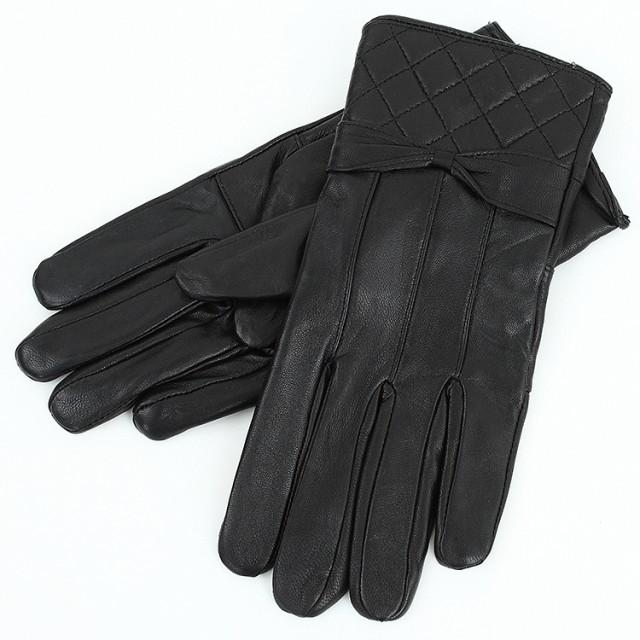 【ゆうパケット対応】レディース革手袋 やわらか...