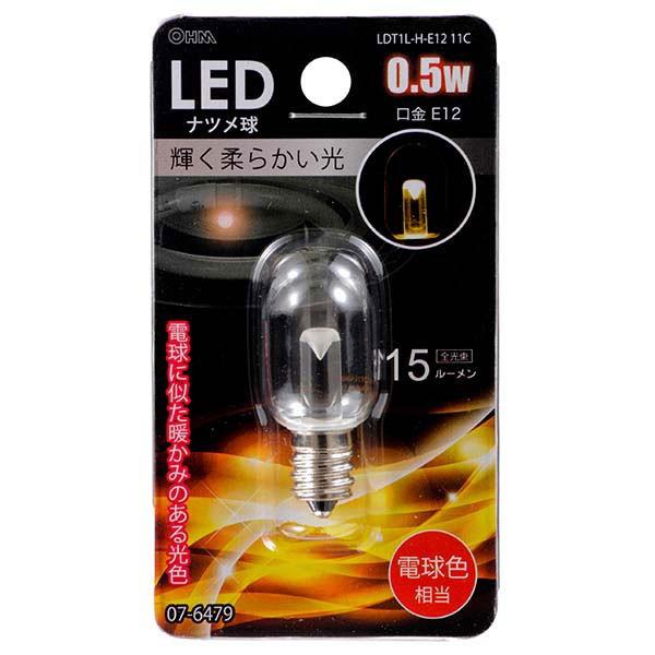LED電球 ナツメ球型 クリア 0.5W E12 電球色 LDT1...