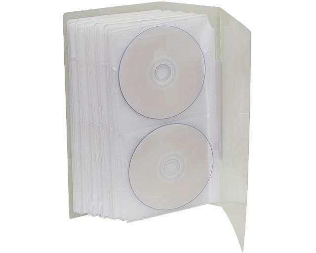 CD/DVD用 ファイルケース 120枚収納 CD/DVD 120WH...